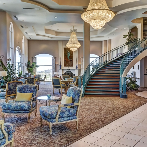 Lobby at Forest Villas Hotel in Prescott, Arizona