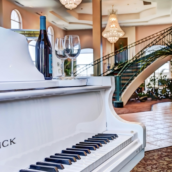 Piano at Forest Villas Hotel in Prescott, Arizona
